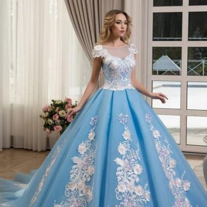 Princess Ball Gown Prom Dresses Lig..