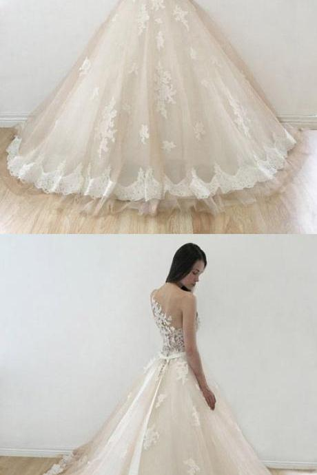 Ball Gown Wedding Dresses, Sweetheart Wedding Dresses, Lace Bridal Dresses, Affordable Wedding Dresses, Long Bridal Gowns, Cheap Wedding Dresses