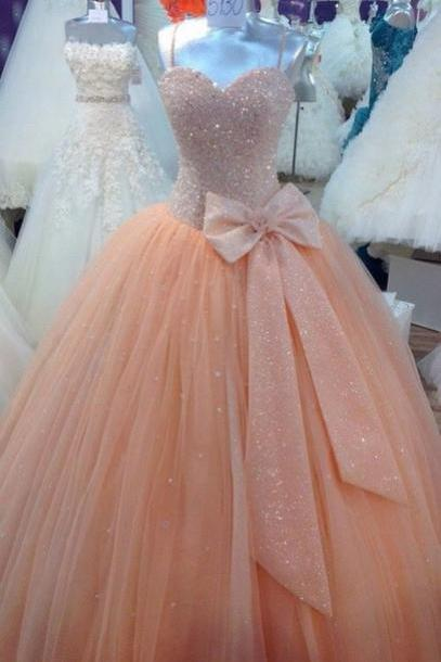 Custom Made Pink Sweetheart Neckline Prom Dresses, Pink Ball Gown Dresses,Pegeant Dresses, Ball Gown Prom Dresses,Quinceanera Dresses, Sweet 16 Dresses,Pink Quinceanera Dresses