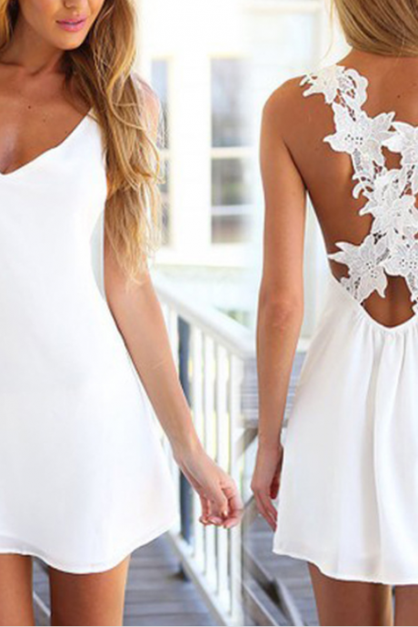 Cheap Chiffon Homecoming Dresses,White Short Prom Dresses