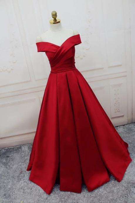 Charming Prom Dress, A Line Prom Dress,Dark Red Evening Dress,Formal Evening Dresses ,Women Dress