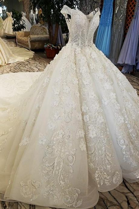 vestido de noiva ivory and champagne off shoulder sweetheart ball gown lace up wedding dresses,W2009