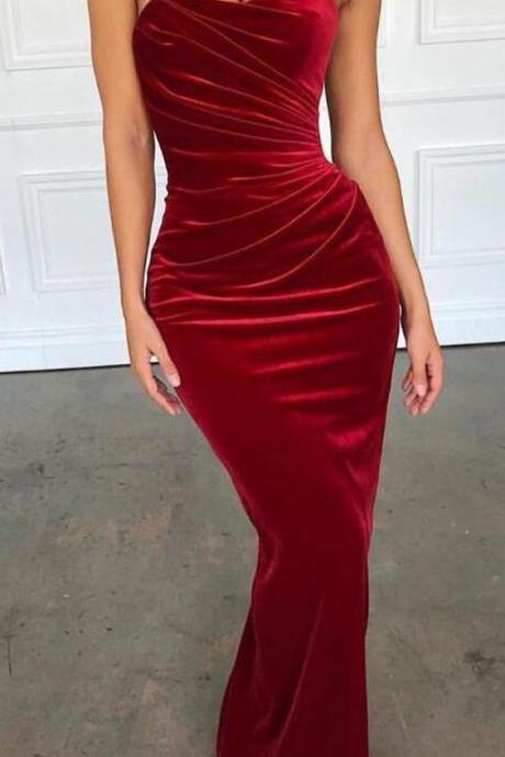 Mermaid Sexy Simple Cheap Long Bridesmaid Prom Dresses,P2182